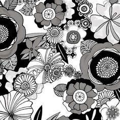 Trippie Dippie Floral Midnight by Ellen Medlock.
