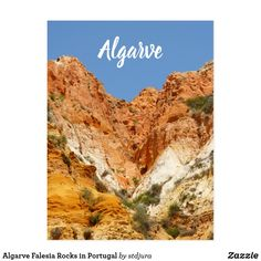 Algarve Falesia Rocks in Portugal Postcard - travel photos wanderlust traveling pictures photo Algarve, Portugal, Picture Photo, Travel Photos, Grand Canyon, Day, Postcards, Rocks, Traveling