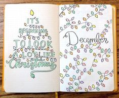 8 December Bullet Journal Spreads with Christmas Holiday String Lights Theme for Cozy Winter Setup - December Bullet Journal Layouts, December Plan With Me, Winter Plan With Me, December cover page, D - Bullet Journal Inspo, Bullet Journal December, Bullet Journal Spreads, Bullet Journal Christmas, Bullet Journal Cover Ideas, Bullet Journal Quotes, Bullet Journal 2020, Bullet Journal Notebook, Bullet Journal Layout