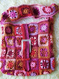 Crochet bag.  Not crazy about the design but I LOVE the colors...