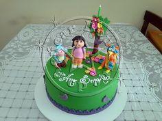 Bolo-Decorado-Dora-Aventureira/Dora, the explorer cake