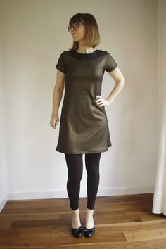 Andrea's sewing diary: Plantain Tee turned NYE Gold Dress
