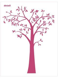 Neu Leafy Tree 7 foot tall wall decal sticker