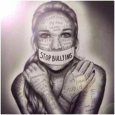Stop bullying artwork by kristina Webb people need to understand that words hurt? how many more teenagers need to die to figure out that bullying is wrong? Anti Intimidation, Kristina Webb Art, Kristina Webb Drawings, Stop Bulling, Ps Wallpaper, Anti Bullying, Cyber Bullying, Workplace Bullying, Verbal Bullying