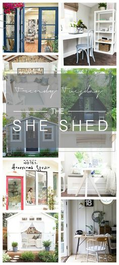 Trendy Tuesday ~ Move Over Man Cave! Make Way For The She Shed. — Interiors By Sarah Langtry - Trendy Tuesday ~ Move Over Man Cave! Make Way For The She Shed. — Interiors By Sarah Langtry - Outdoor Rooms, Outdoor Living, Outdoor Decor, Treehouse Living, Boom Boom Room, Shed Organization, Chicken Life, Make Way, Shed Homes