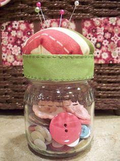 Baby Food Jar Pincushion Tutorial