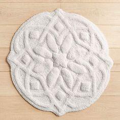 Delicieux Pier 1 Imports Medallion Round Bath Rug ($40) ❤ Liked On Polyvore Featuring  Home, Bed U0026 Bath, Bath, Bath Rugs, Grey, Grey Bath Rugu2026