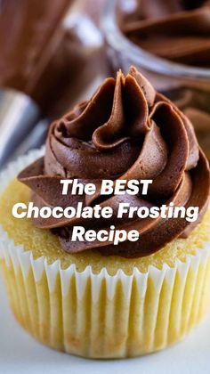 Best Chocolate Frosting Recipe, Icing Recipe, Chocolate Recipes, Cupcake Recipes, Baking Recipes, Dessert Recipes, Kitchen Recipes, Easy Recipes, Cupcakes
