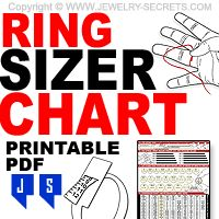 Ring Chart Just Hold Your Ring Up To The Screen To See The Size