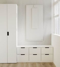 Hallway Storage, Tall Cabinet Storage, Ikea Nordli, Hall Wardrobe, Hallway Designs, Boy Room, Bedroom Furniture, Living Room Decor, Interior Design