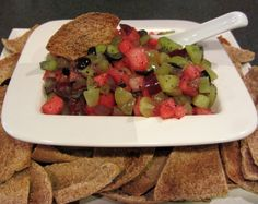 Fresh Fruit Salsa with Honey & Poppy Seeds.  This looks amazing and I think kids would love this!
