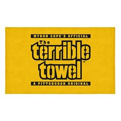 7db19408 Pittsburgh Steelers Original Terrible Towel Gold Logo New Officially License