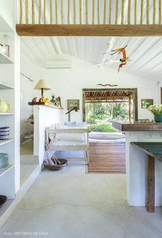 Uma casinha encantadora em Trancoso | Histórias de Casa Arch Interior, My House, Beach House, Farmhouse, Bed, Montana, Brazil, Feels, Furniture