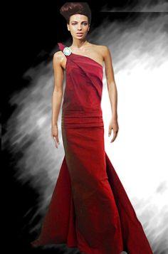 שמלות ערב אדומות דגם 20141