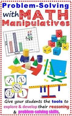 Our students learn by doing, which is why math manipulatives are necessary tools for teaching and reinforcing math concepts. Teaching with math manipulatives gives our students opportunities to explore and develop reasoning and problem-solving skills. Find the best math manipulatives including Base Ten Blocks, Color Tiles, Cuisenaire Rods,  Pattern Blocks,  Tangrams and many more. Perfect for math stations. common core math 3rd grade, 4th grade, 5th grade, 6th grade 7th grade 8th grade
