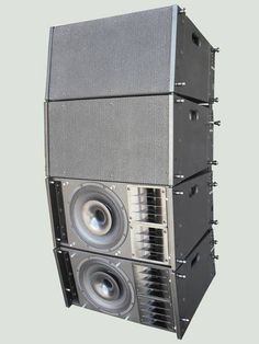 This hybrid system is designed for rental or touring companies. It consists of a 2 way passive speaker system (one + on coaxial) for confere. Sound Speaker, Stereo Speakers, Speaker System, Audio System, Passive Speaker, Subwoofer Speaker, Professional Audio, Audio Equipment, Audiophile