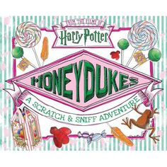 "Harry Potter film fans are sure to cherish this ""Honeydukes: A Scratch & Sniff Adventure"". Scratch and savor the scents of delectable confections straight from the shelves of Wizarding World's most famed sweets shop, Honeydukes. Bonbon Harry Potter, Harry Potter Pdf, Harry Potter Author, Theme Harry Potter, Harry Potter Gifts, Harry Potter Movies, Harry Potter Beans, Jarry Potter, Honey Dukes"