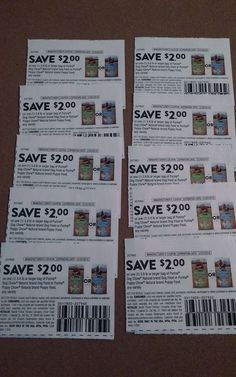 Lot of 10 $2 off PURINA DOG CHOW  dog food coupons 3.8 lbs bags Exp 12/16