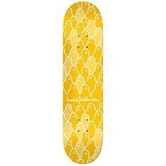 b546a69d7dd Krooked Skateboard Deck Krouded Yellow 8.25