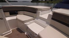 Sea Ray 250 SLX: The 250 has a walkthrough channel under the filler cushion, thus eliminating a gate.