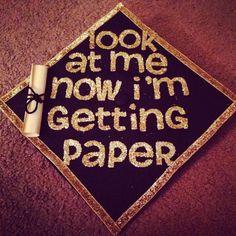 My graduation cap!! #BGSU #AXO