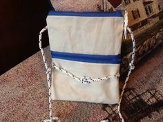 Sail cloth crossover swing bag hipster small purse nautical, lined, zip pocket and top, recycled sail, stocking stuffer gift for sailor by Sailknot on Etsy