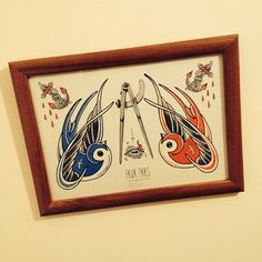 «#OLDSCHOOLTATTOO #TATTOOFLASH #FRAME #INTERIOR #BLUEBIRD #BLUBIRDTATTOO #ANCHOR #ANCHORTATTOO #TATTOO #BANSKO #WATERCOLOR #INK #TEARS #BLOOD»