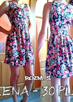 Kup mój przedmiot na #vintedpl http://www.vinted.pl/damska-odziez/krotkie-sukienki/10073067-sukienka-z-kwiatowym-motywem
