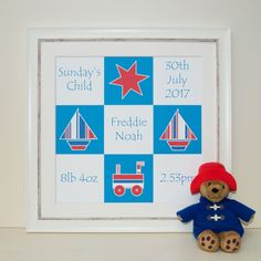 Our personalised picture frames are the perfect gift for a new baby!