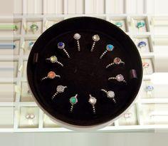 Pandora birthstone rings #pandora #pandorajewellery #ring #silver Pandora Rings, Pandora Jewelry, Persona, Birthstones, Charms, Clock, Silver, Watch, Birth Stones