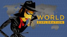 World Exploration - fun geography game from the CIA (believe it or not). Has 3 levels for older elementary, middle school, and high school. A great way to learn geography- looks like Carmen Sandiego! Geography Games, Ap Human Geography, Teaching Geography, World Geography, 4th Grade Social Studies, Social Studies Classroom, Social Studies Activities, Teaching Social Studies, Fun Activities