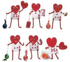 art valentine day cards for kids prek | Preschool Crafts for Kids*: 12 Great Valentine's Day Candy Gift Crafts
