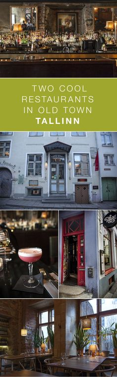 Rataskaevu 16 and Tabac in Old Town Tallinn are two restaurants that are really worth checking out. Cool Restaurant, Old Town, Liquor Cabinet, Places, Restaurants, Home Decor, Old City, Decoration Home, Room Decor