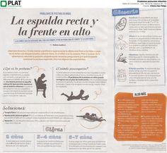 Clínica San Felipe: Problemas posturales en niños en el suplemento Viú! del diario El Comercio de Perú (06/11/16)