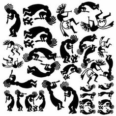 Southwest Kokopelli Black Enamel Fusible Decal