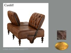Chesterfield 2 asiento</br>Cardiff Old Look Marrón