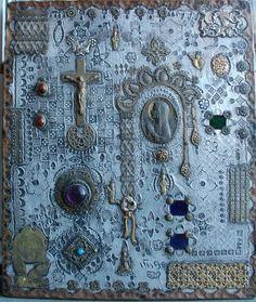 Carlos Inigo Robles retablo mexico 14 X He died in Metal, Milagros and semi-precious stones. Sacred Symbols, Sacred Art, Catholic Art, Religious Art, California Art, Venice California, Spiritual Images, Organic Art, World Crafts