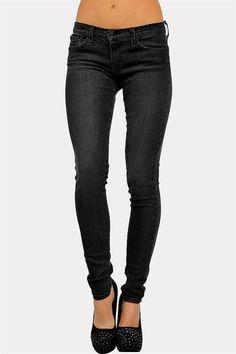 Dark Night Skinnies - Black and super cute shoes