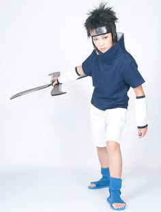 Modern Naruto Sasuke Uchiha Costume (size: Male XXS)