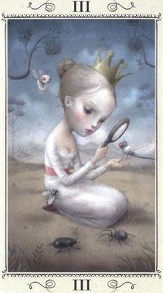 The Empress - Nicoletta Ceccoli Tarot by Nicoletta Ceccoli Surrealism Sculpture, Arte Lowbrow, La Danse Macabre, Pop Art, Mark Ryden, Art Deco Posters, Arte Horror, Arte Pop, Tarot Decks