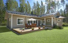 Одноэтажные финские деревянные дома фото фото