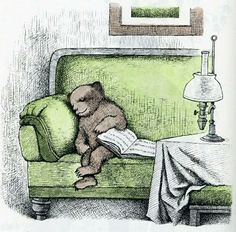 An illustration from Else Holmelund Minarik's Little Bear's Visit, from the line of Little Bear children's books published by Harper Brothers, United States, by Maurice Sendak. Maurice Sendak, I Love Books, Good Books, My Books, Book Art, Drawn Art, Lectures, Children's Literature, Children's Book Illustration