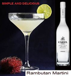 Rambutan martini: rambutans, lime, vodka, and ginger liqueur. Summer Cocktails, Cocktail Drinks, Fun Drinks, Beverages, Liquor Drinks, Cocktail Shaker, Lychee Martini, Vodka Martini, Martinis