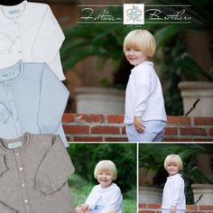 Temperatures are dropping and we've got just the cardigan to layer over you're little guy's outfits! It's our lovely rolled edge cardigan! Comes in white, baby blue, & grey in sizes 3m-4t! We've got the cutest coordinating hat available too! http://feltmanbrothers.com/cardigan-with-rolled-edge/ http://feltmanbrothers.com/heather-grey-hat-with-rolled-edge/