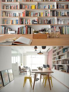 they made the bookshelf into a living room centrepiece! all in all, this is a huge motivation on crafting a wonderful living space without the need to engage an ID!