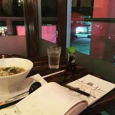 Photo Entry: Late night sketching with ramen #reference #pasadena #Twitter #ninjasonmotorcycles