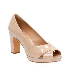 b91f2a42162986 Jenness Cloud Sand Patent Leather - Women s Heels - Clarks® Shoes Desert  Boots Women