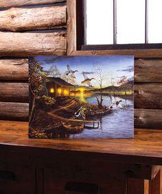 Loving this Autumn Retreat Light-Up Canvas on #zulily! #zulilyfinds