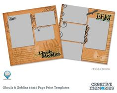 NEW September 1, 2012 - Ghouls & Goblins 12x12 Page Print Template for Storybook Creator ($3.95) #digital #scrapbooking