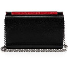 Christian Louboutin Vanité Minaudière ($1,450) ❤ liked on Polyvore featuring bags, handbags, clutches, black, clasp purse, christian louboutin handbags, holiday handbags, christian louboutin and holiday purse